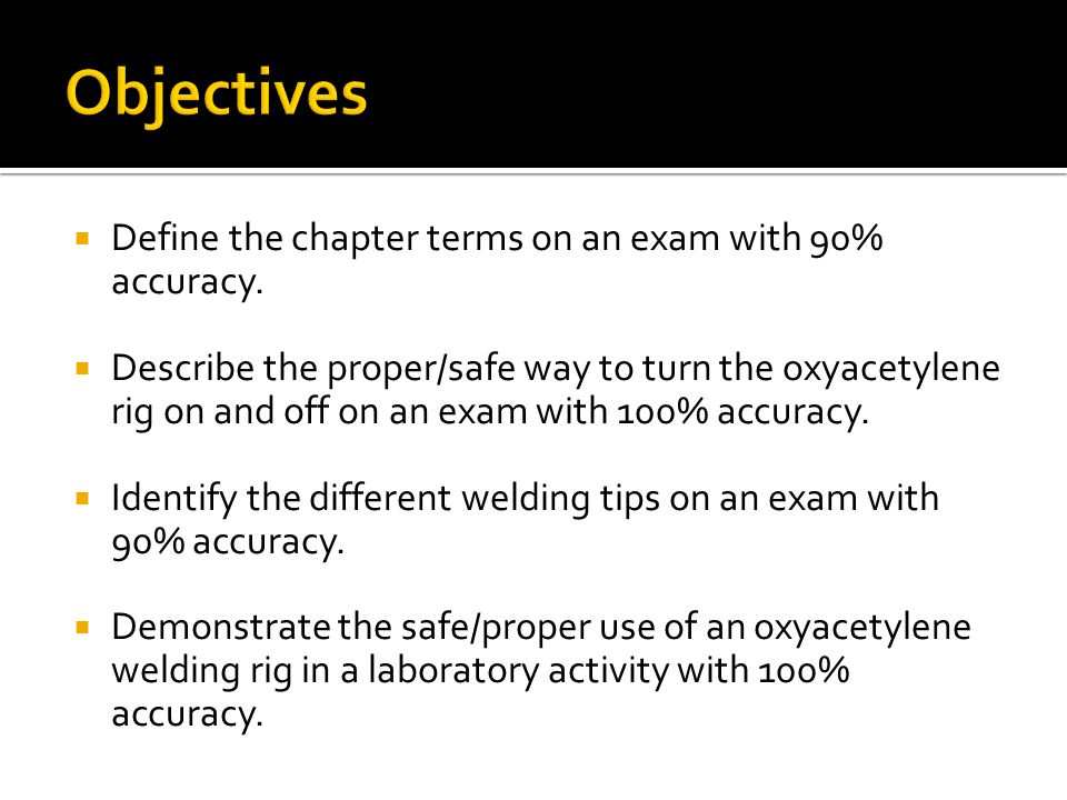  Define the chapter terms on an exam with 90% accuracy.