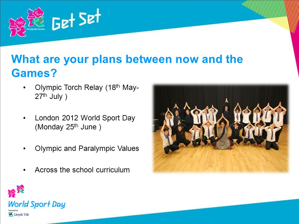 February - Get Set for the Torch Relay Resources to help every school make the most of the Torch Relay coming to a community near them.
