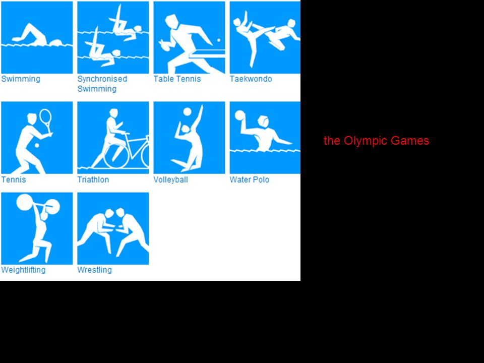 This link will let you find out more about each sport. the Olympic Games