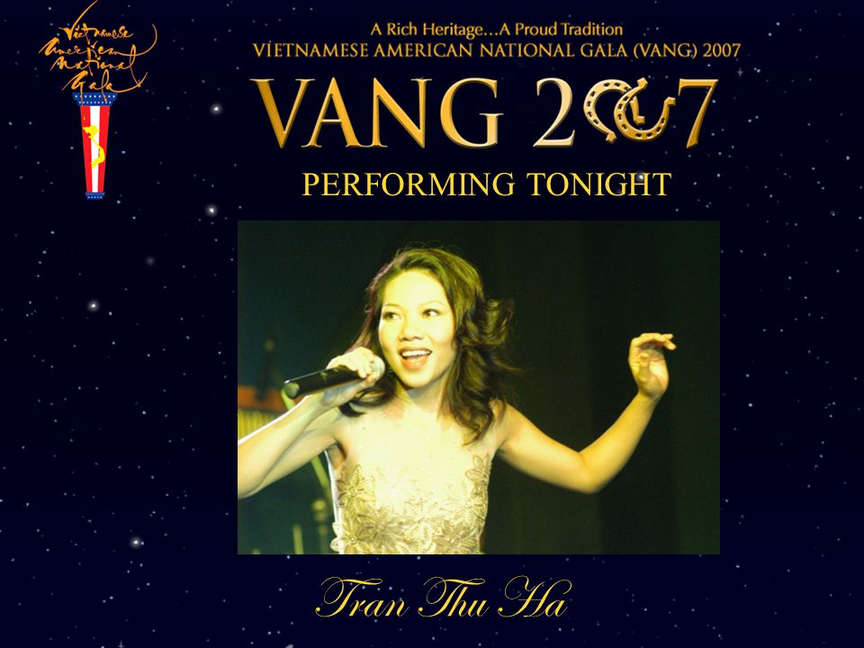PERFORMING TONIGHT Tran Thu Ha
