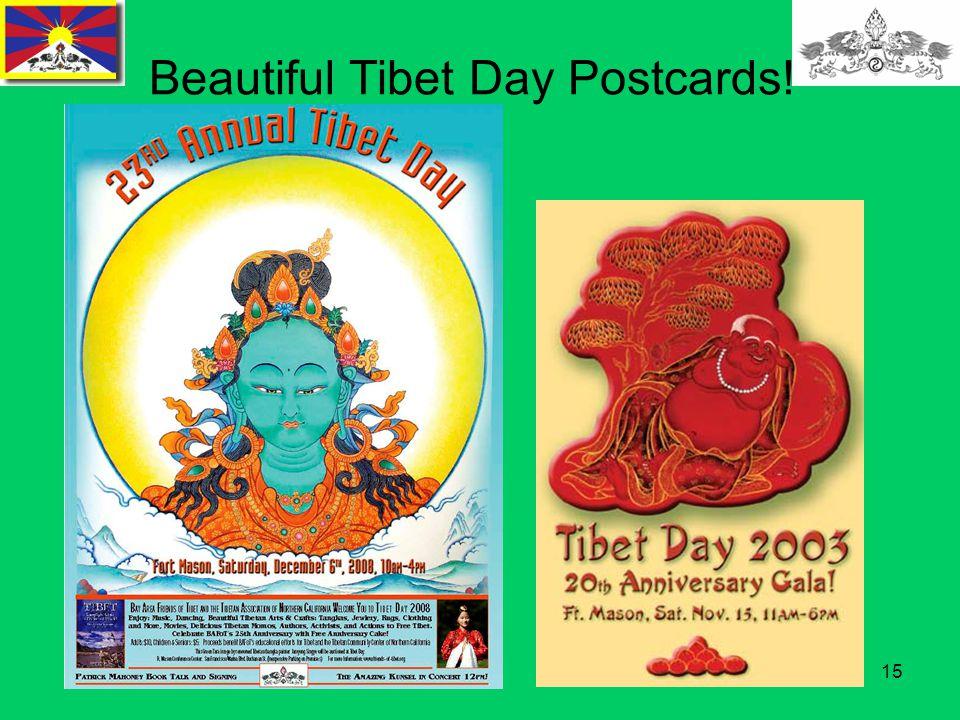 15 Beautiful Tibet Day Postcards!