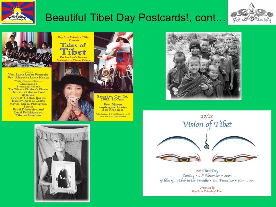 16 Beautiful Tibet Day Postcards!, cont…
