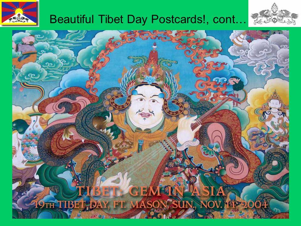 17 Beautiful Tibet Day Postcards!, cont…