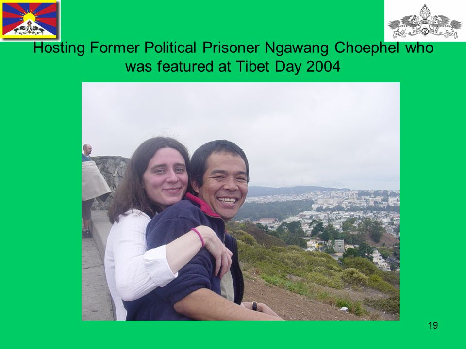 19 Hosting Former Political Prisoner Ngawang Choephel who was featured at Tibet Day 2004