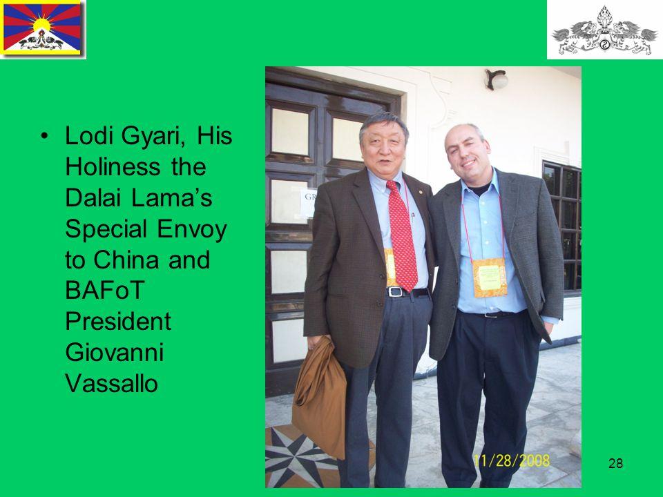 28 Lodi Gyari, His Holiness the Dalai Lama's Special Envoy to China and BAFoT President Giovanni Vassallo