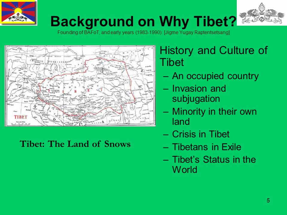 5 Background on Why Tibet.