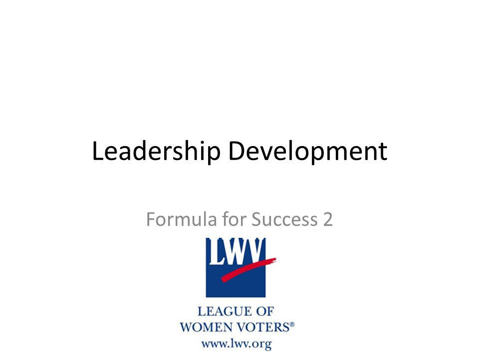 Leadership Development Formula for Success 2
