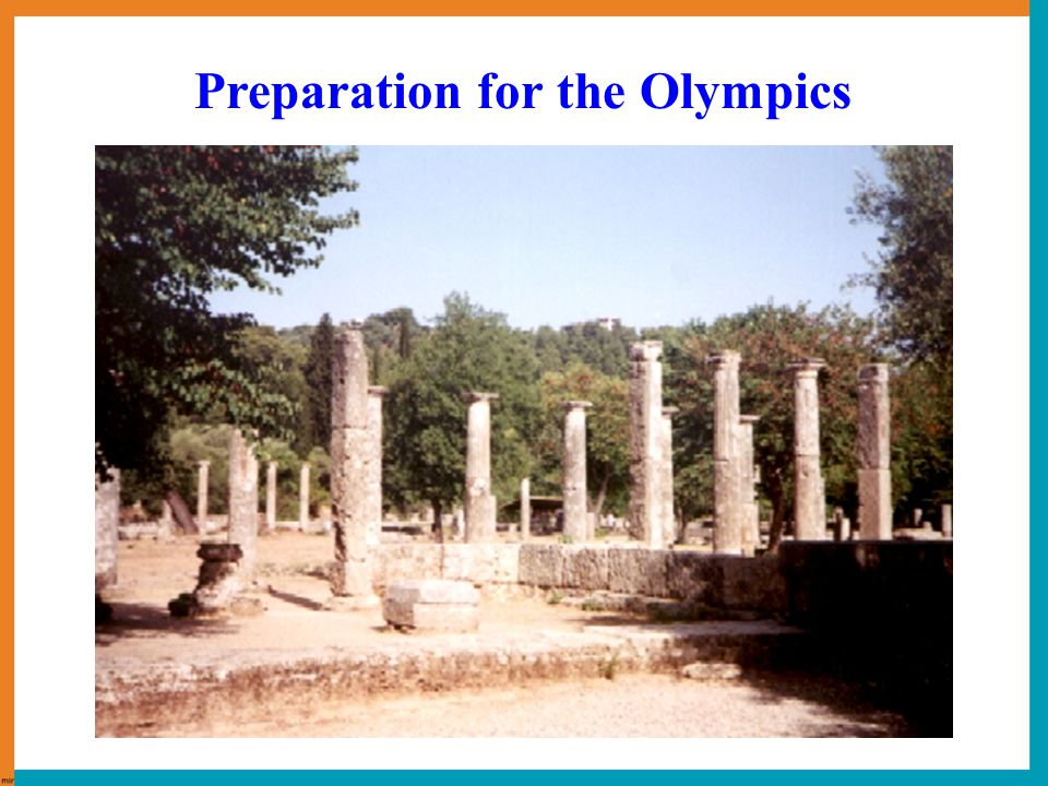 776 BC, Olympia in Greece 339 BC 1896, Athens in Greece Ancient Olympics Modern Olympics Brief History of the Olympics