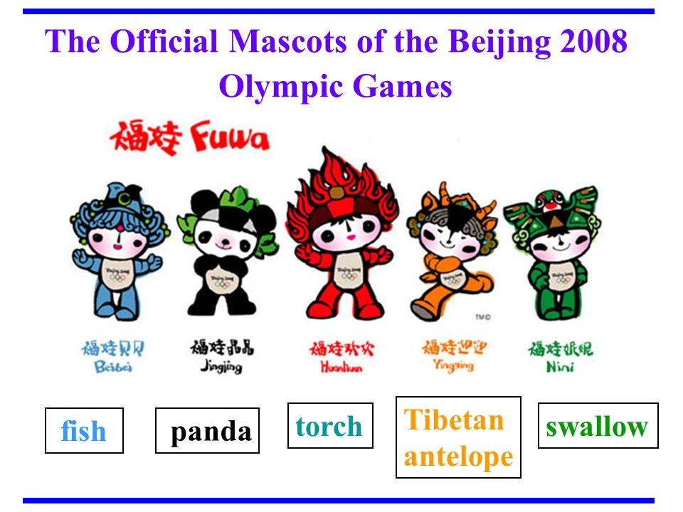 8 What are the official mascots for the Beijing Olympic? The five mascots are officially called the Five Friendlies.