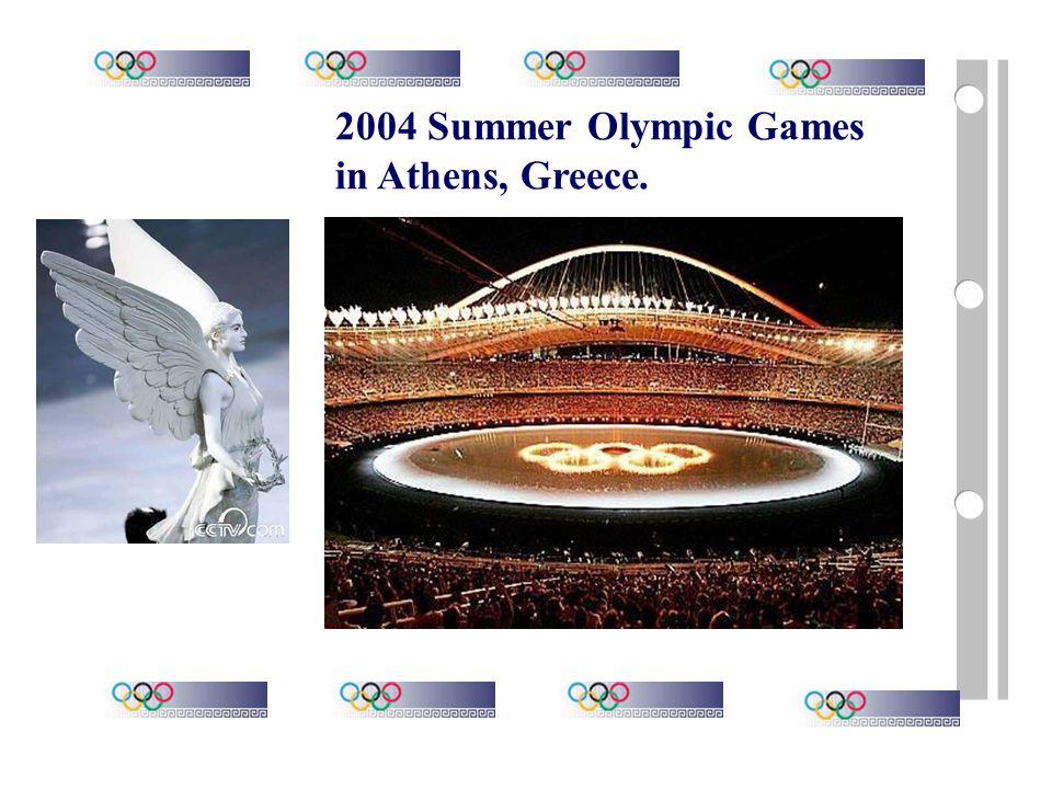 2000 Summer Olympic Games in Sydney, Australia.