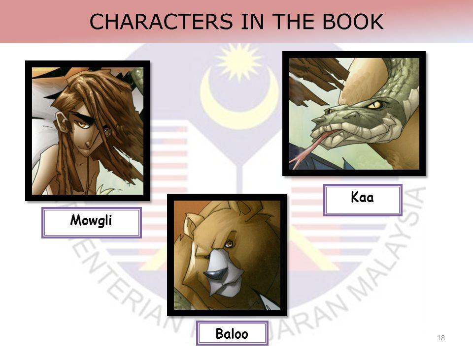 18 CHARACTERS IN THE BOOK Kaa Baloo Mowgli