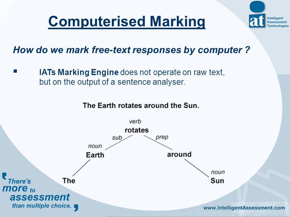 How do we mark free-text responses by computer .