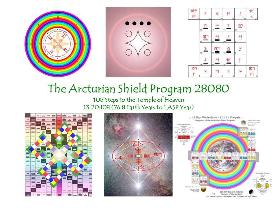 The Arcturian Shield Program 28080 108 Steps to the Temple of Heaven 13:20:108 (76.8 Earth Years to 1 ASP Year)