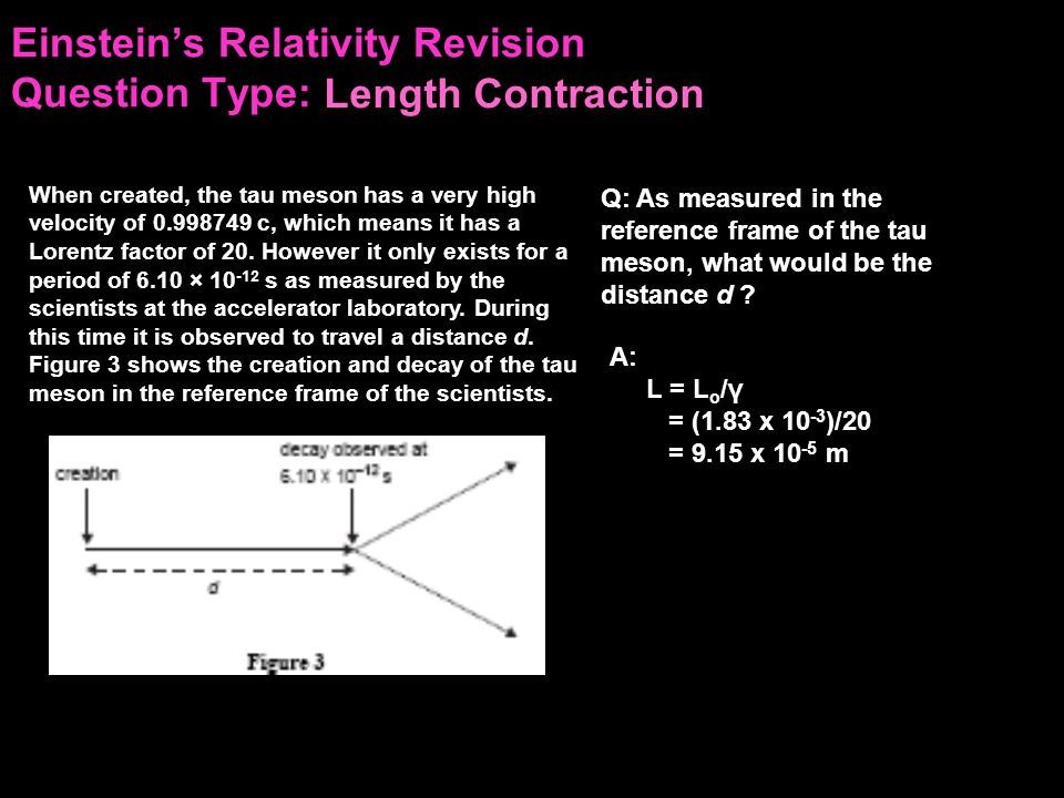 Einstein's Relativity Revision Question Type: According to Einstein's special theory of relativity, mass and energy are related.