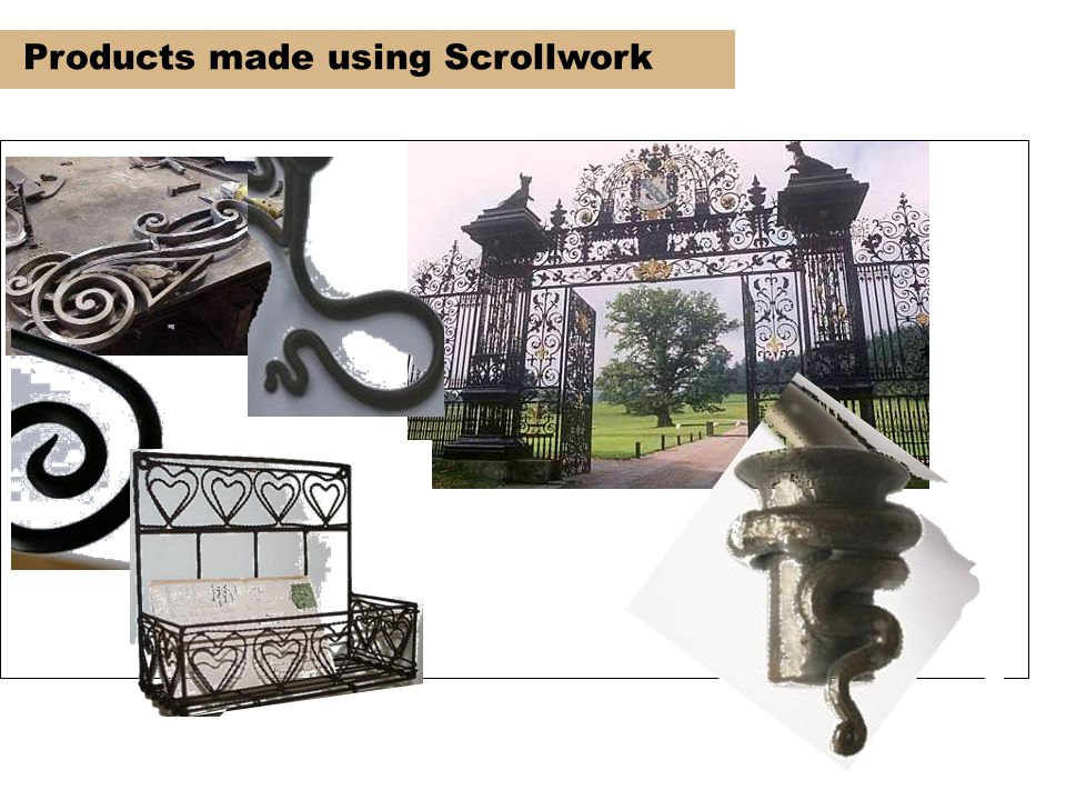 Products made using Scrollwork