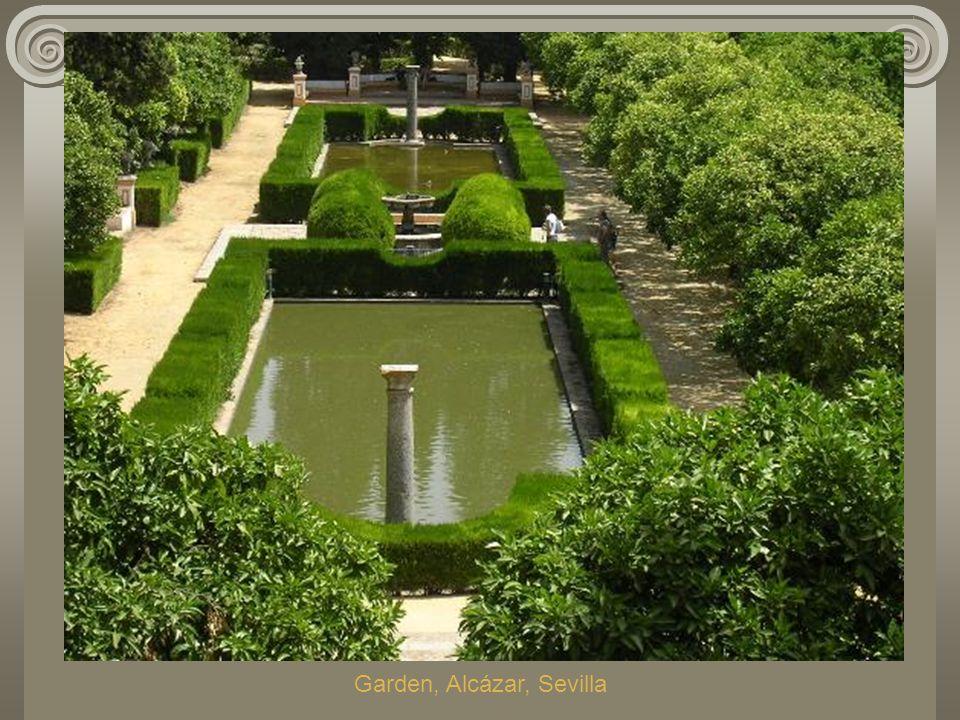 Garden, Alcázar, Sevilla