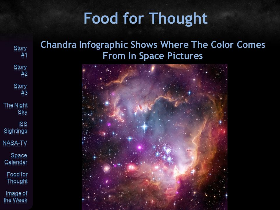 Food for Thought Chandra Infographic Shows Where The Color Comes From In Space Pictures