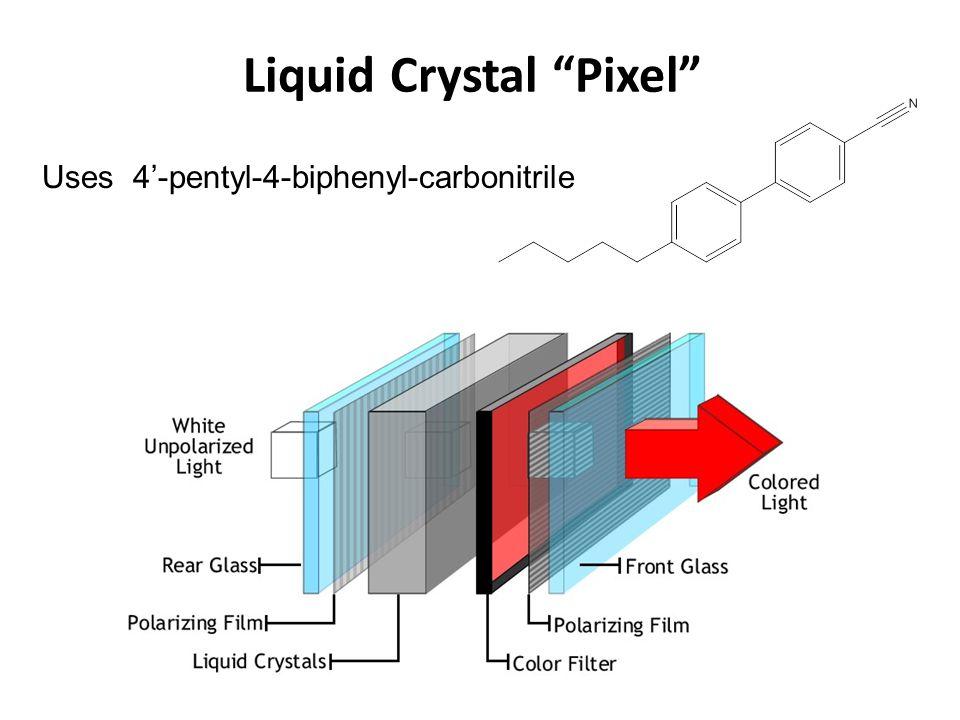 Liquid Crystal Pixel Uses 4'-pentyl-4-biphenyl-carbonitrile