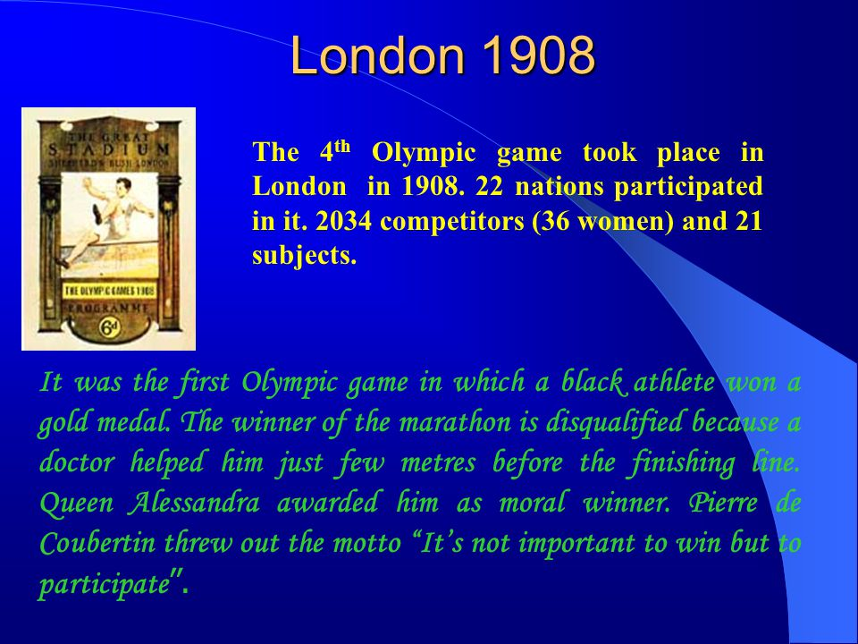 Stockholm 1912 The 5 th Olympic game took place in Stockholm from 29 Juni to 22 nd July in 1912.