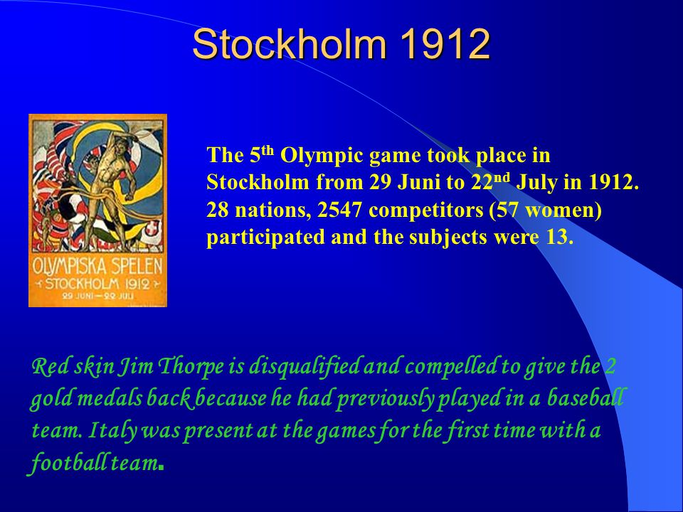 Averse1920 The 6 th Olympic game took place from 20 th April to 12 th in Averse.