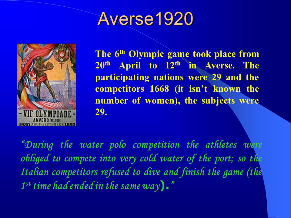 Paris 1924 The 7 th Olympic game took place from 4 th May 27 th July 1924.
