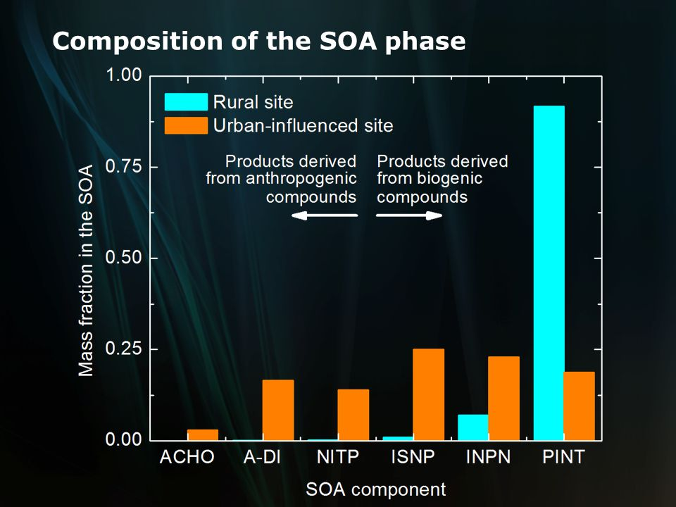 Composition of the SOA phase