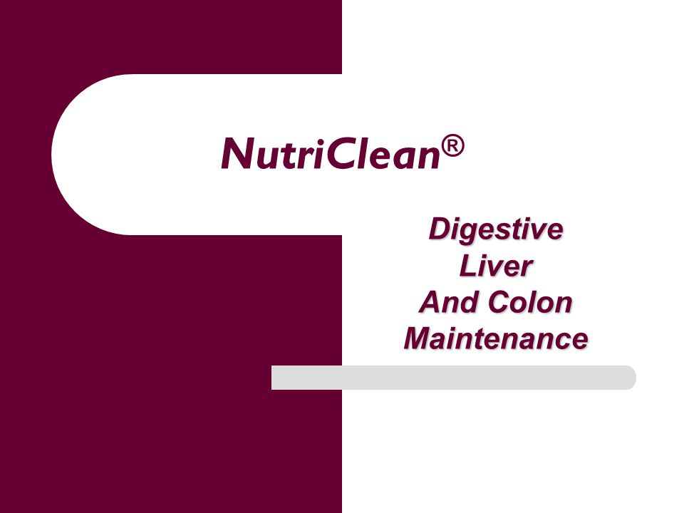 NutriClean ® DigestiveLiver And Colon Maintenance