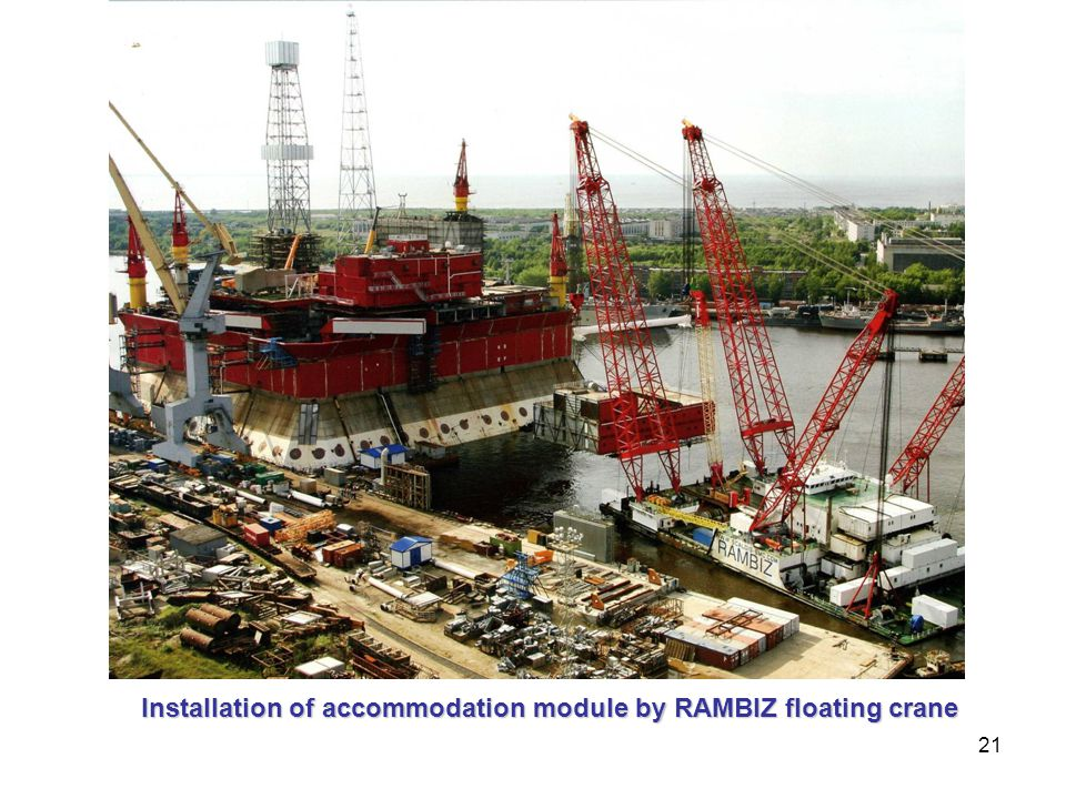 21 Installation of accommodation module by RAMBIZ floating crane