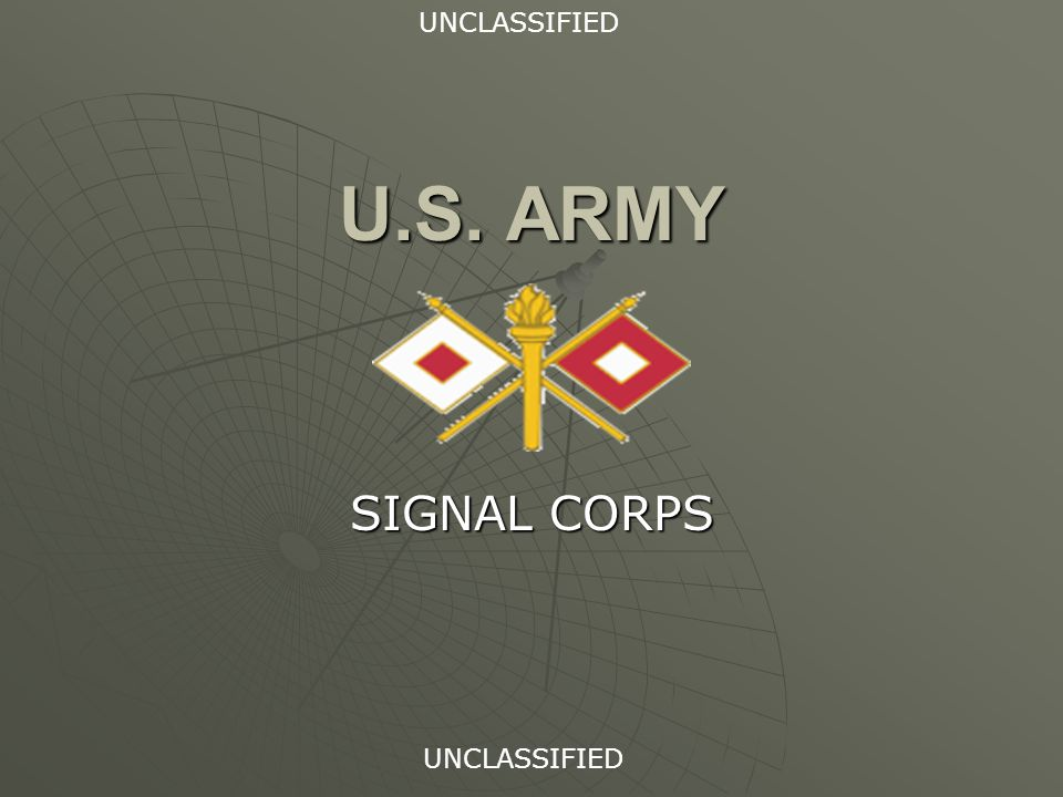 U.S. ARMY SIGNAL CORPS UNCLASSIFIED