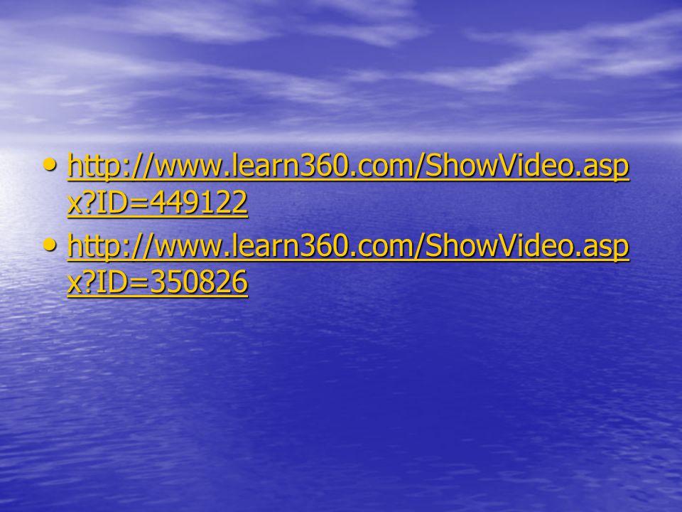 http://www.learn360.com/ShowVideo.asp x ID=449122 http://www.learn360.com/ShowVideo.asp x ID=449122 http://www.learn360.com/ShowVideo.asp x ID=449122 http://www.learn360.com/ShowVideo.asp x ID=449122 http://www.learn360.com/ShowVideo.asp x ID=350826 http://www.learn360.com/ShowVideo.asp x ID=350826 http://www.learn360.com/ShowVideo.asp x ID=350826 http://www.learn360.com/ShowVideo.asp x ID=350826