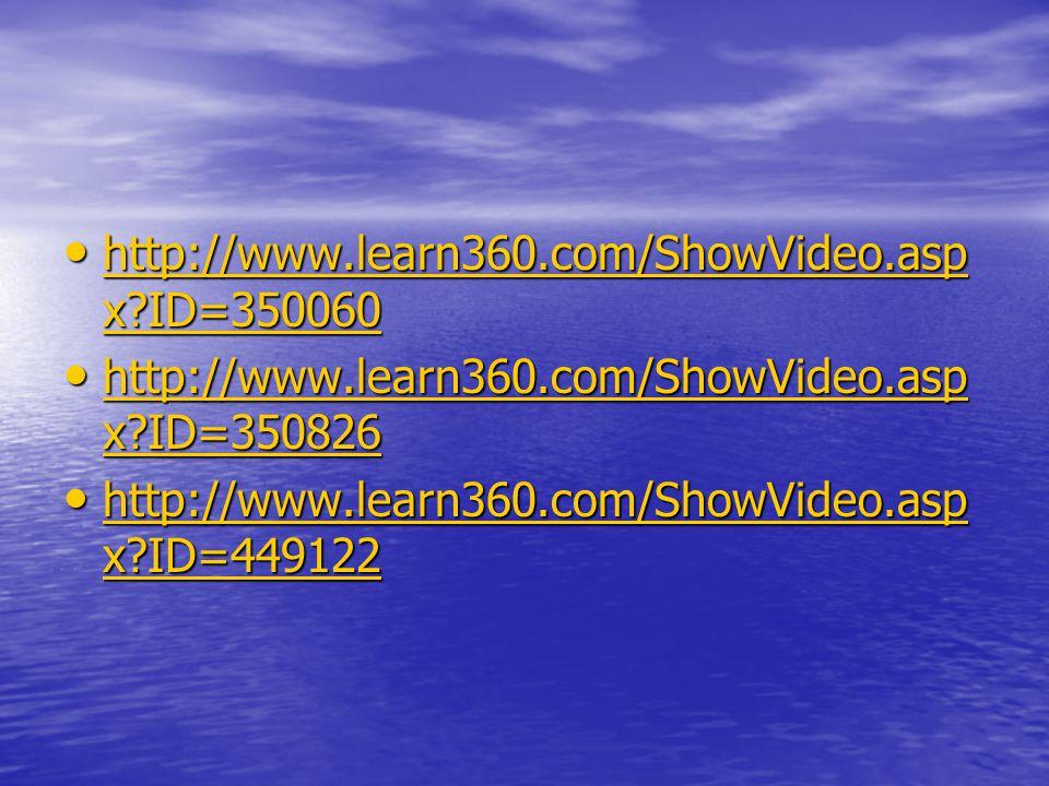 http://www.learn360.com/ShowVideo.asp x ID=350060 http://www.learn360.com/ShowVideo.asp x ID=350060 http://www.learn360.com/ShowVideo.asp x ID=350060 http://www.learn360.com/ShowVideo.asp x ID=350060 http://www.learn360.com/ShowVideo.asp x ID=350826 http://www.learn360.com/ShowVideo.asp x ID=350826 http://www.learn360.com/ShowVideo.asp x ID=350826 http://www.learn360.com/ShowVideo.asp x ID=350826 http://www.learn360.com/ShowVideo.asp x ID=449122 http://www.learn360.com/ShowVideo.asp x ID=449122 http://www.learn360.com/ShowVideo.asp x ID=449122 http://www.learn360.com/ShowVideo.asp x ID=449122