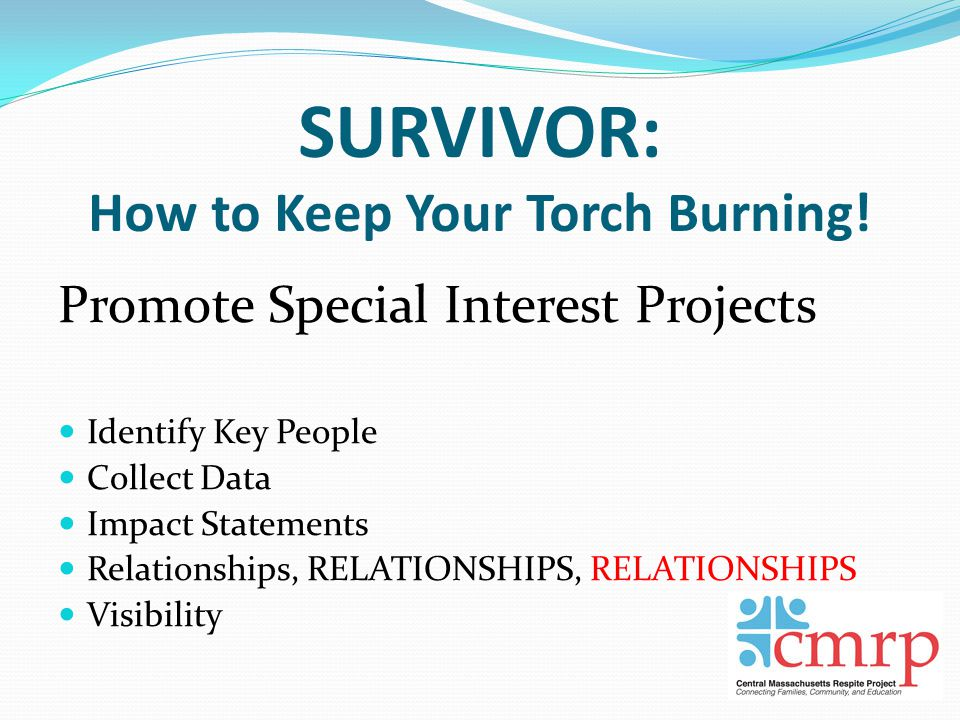 SURVIVOR: How to Keep Your Torch Burning.
