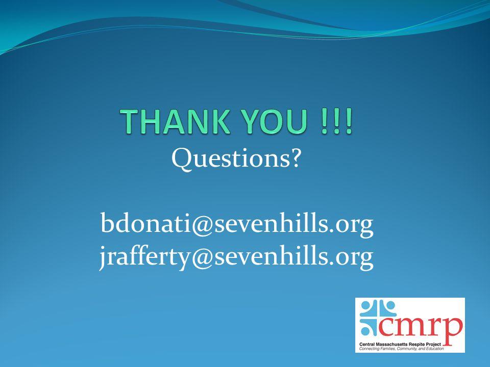 Questions bdonati@sevenhills.org jrafferty@sevenhills.org
