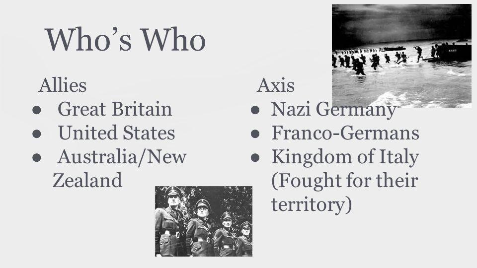 Key Roles ● Bernard Montgomery ● Erwin Rommel ● George Patton ● Dwight D.