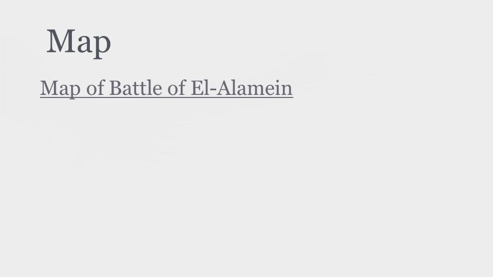 Map Map of Battle of El-Alamein