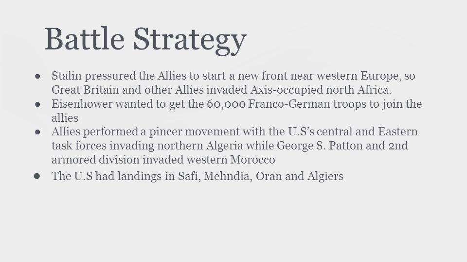 Strategic Map