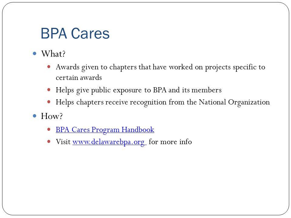 BPA Cares What.