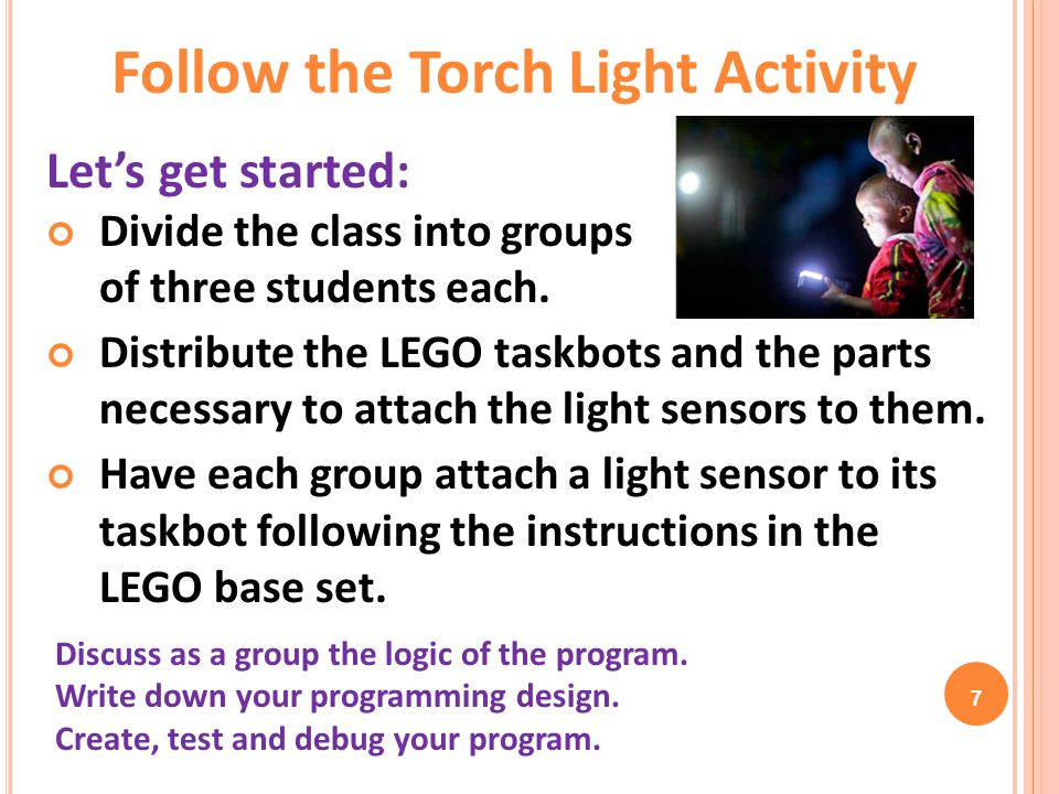 8 Answers: Follow the Torch Light Activity