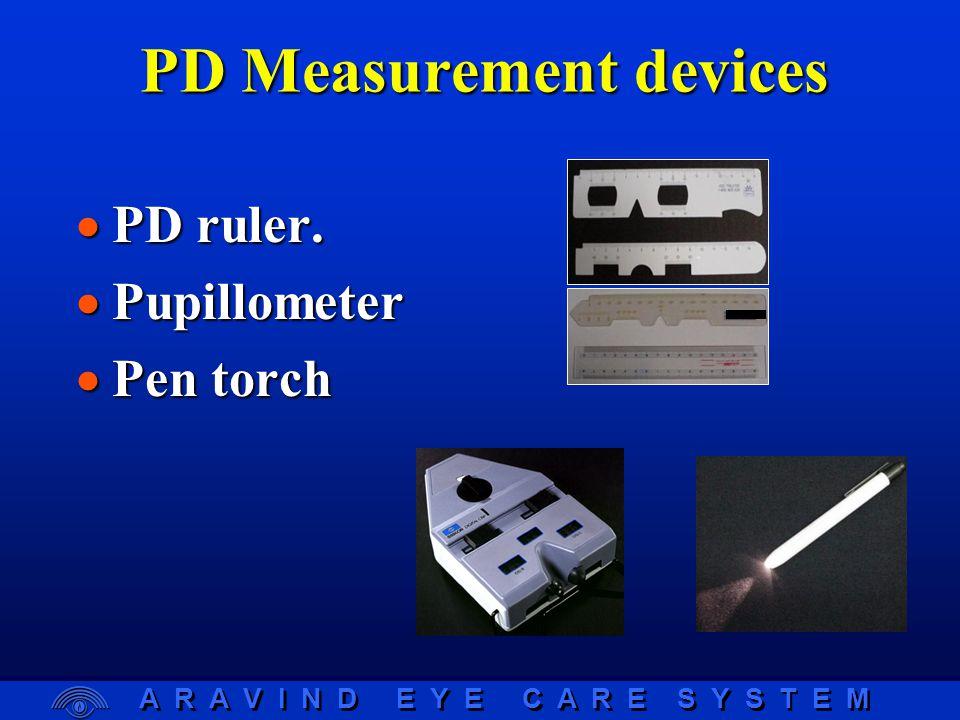 A R A V I N D E Y E C A R E S Y S T E M Near Centration Distance Facial Fitting Principles  PDs Near centration distance