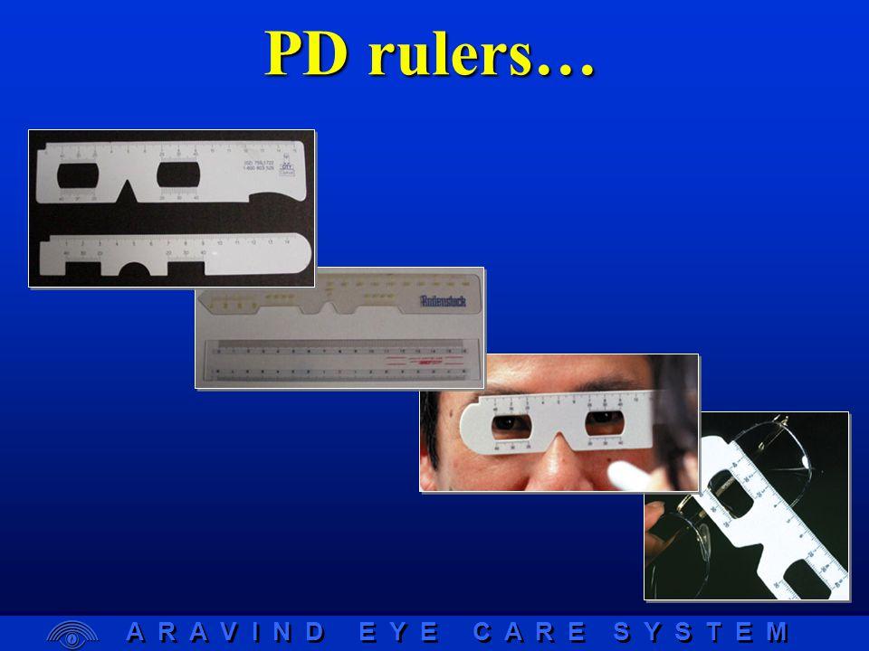 A R A V I N D E Y E C A R E S Y S T E M PD rulers…