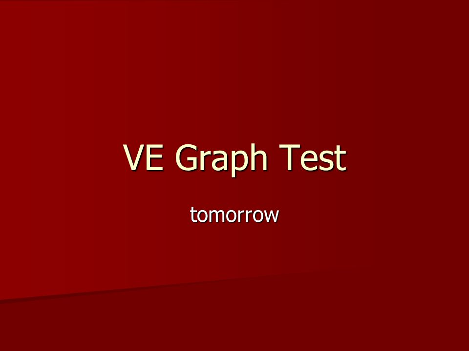 tomorrow VE Graph Test