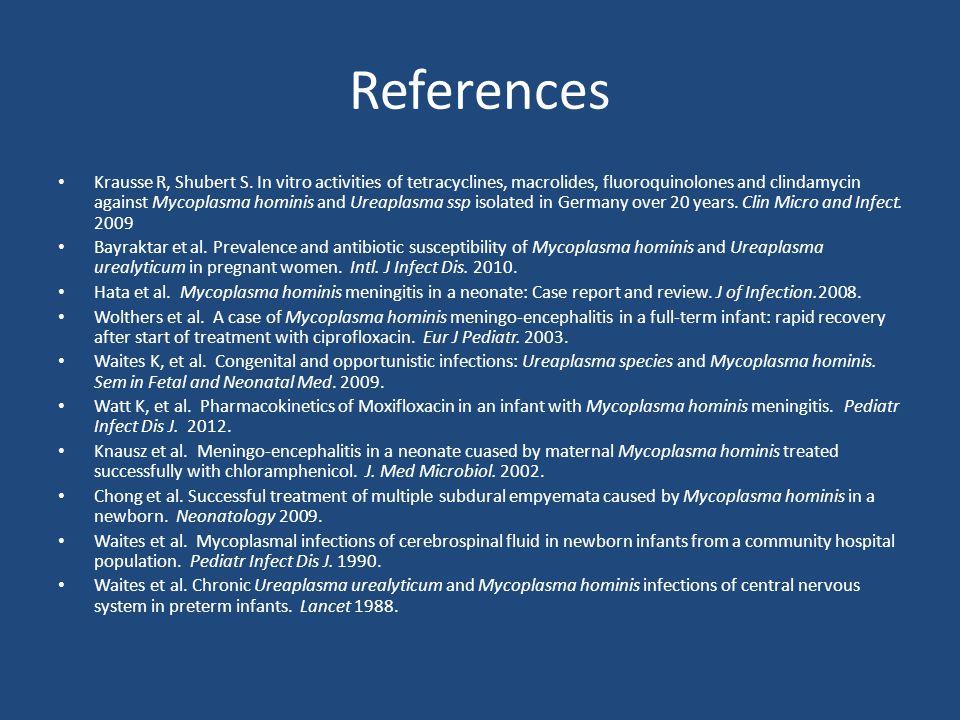 References Krausse R, Shubert S.