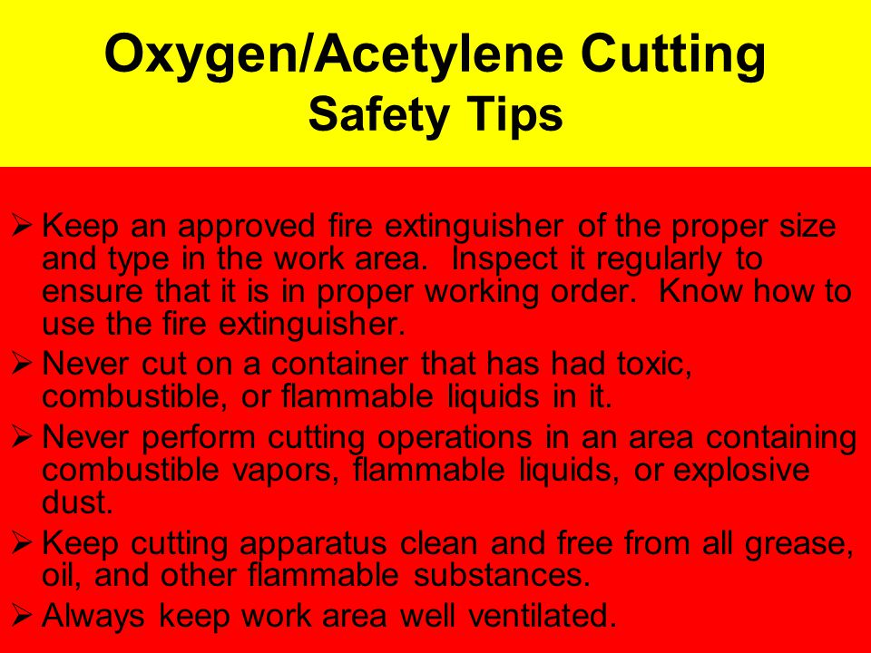 Defintions Oxygen- (non-flammable gas) Is not a fuel: it is what chemically combines with the fuel to the heat for cutting.