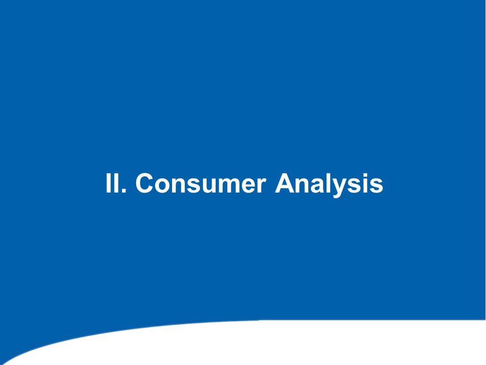 II. Consumer Analysis