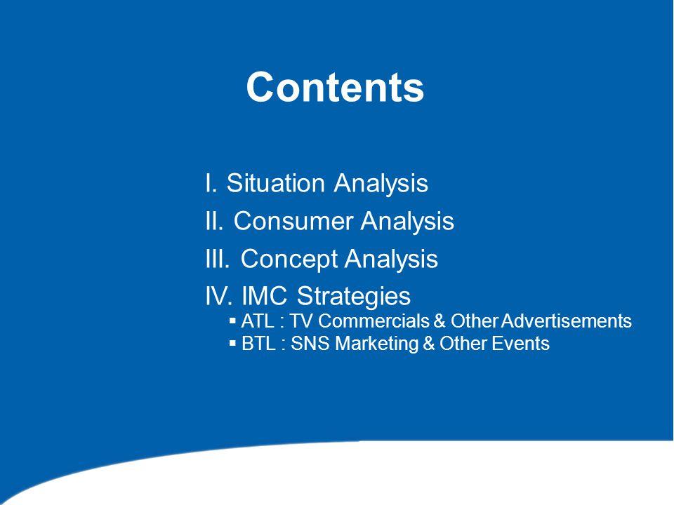 I.Situation Analysis 1. Market Analysis 2. Company Analysis 3.