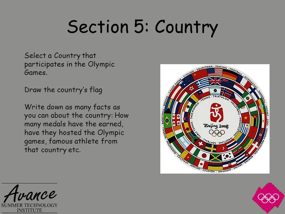 Section 6: Sport If you can be an Olympic Athlete, what sport would you choose.