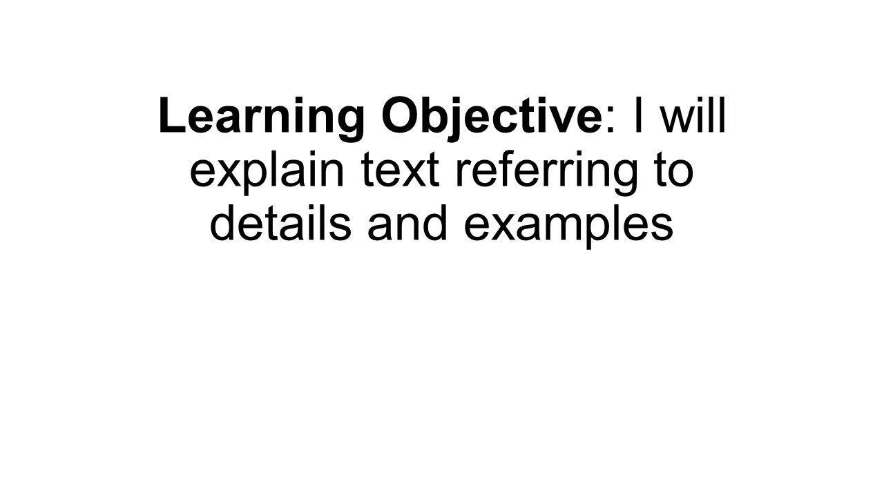 How will I explain text?