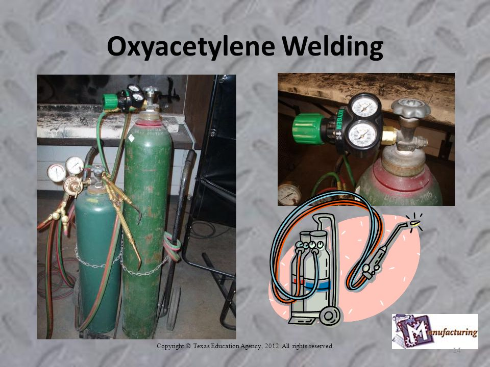 Copyright © Texas Education Agency, All rights reserved. 14 Oxyacetylene Welding
