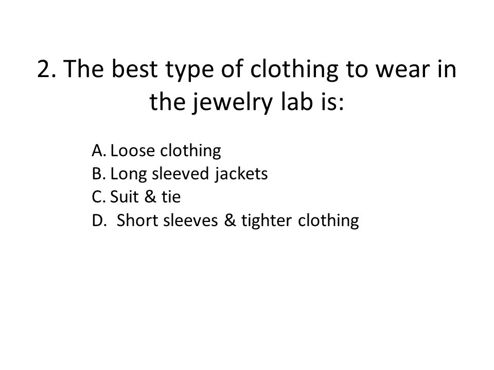 Just a thought: Most students never get hurt in the jewelry studio, not even little cuts.