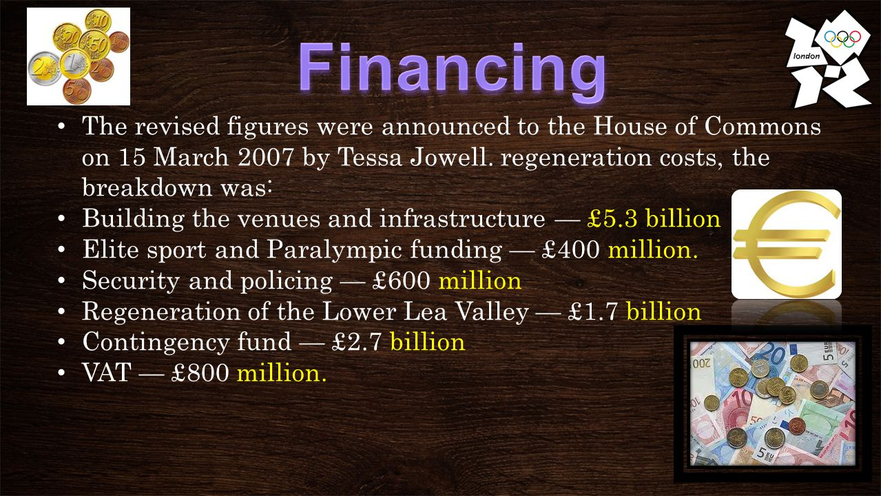 The revised figures were announced to the House of Commons on 15 March 2007 by Tessa Jowell.